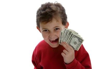 Злорадствующий мальчик (иллюстрация к статье о задолженности алиментов)