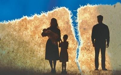 Иллюстрация развода родителей